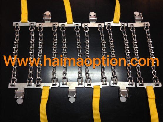 نسل جديد زنجير چرخ فلزي مدل كمربندي آسان نصب(بند زرد)