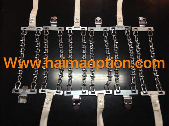 نسل جديد زنجير چرخ فلزي مدل كمربندي آسان نصب(بند سفيد)
