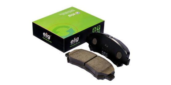 لنت ترمز سرامیکی چرخ جلو هایما S5 برند الیگ (ELIG) اصلی